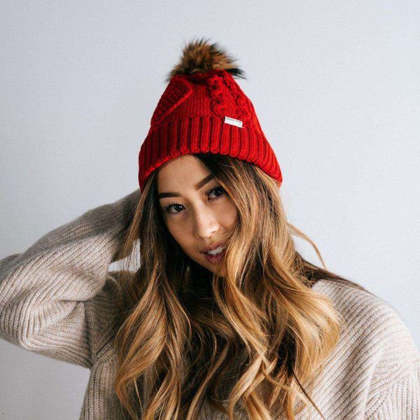 GIGI PIP Hats for Women- Samantha - Ruby Fleece Lined Beanie-Beanie
