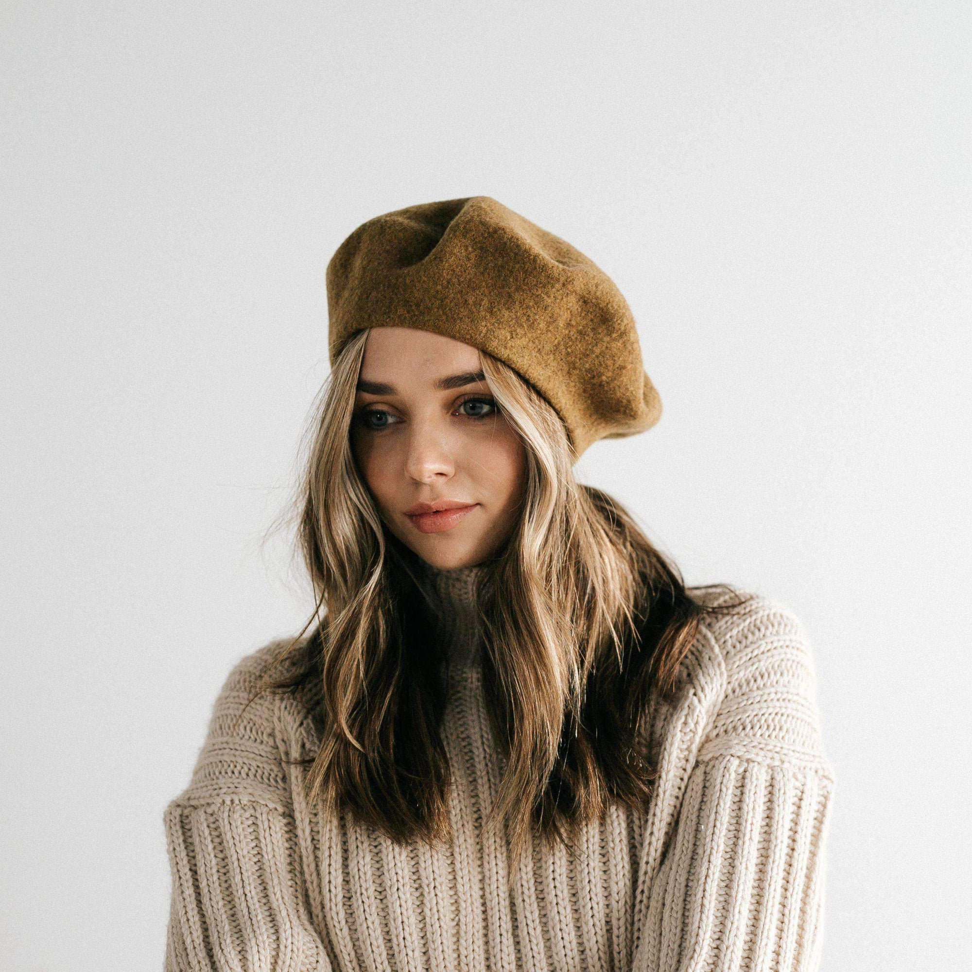 GIGI PIP Hats for Women- Sophie Beret - Camel-Women's Cap