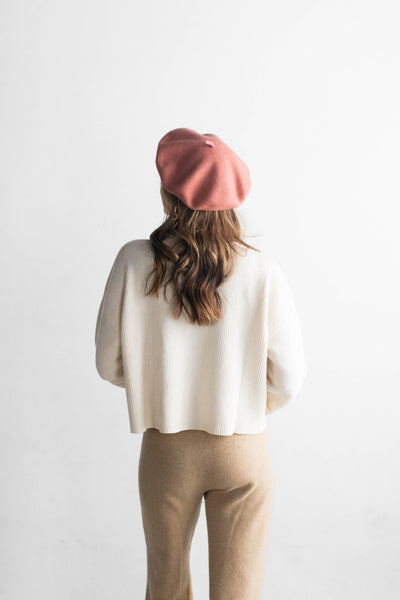GIGI PIP Hats for Women- Sophie Beret - Dusty Pink-Women's Cap