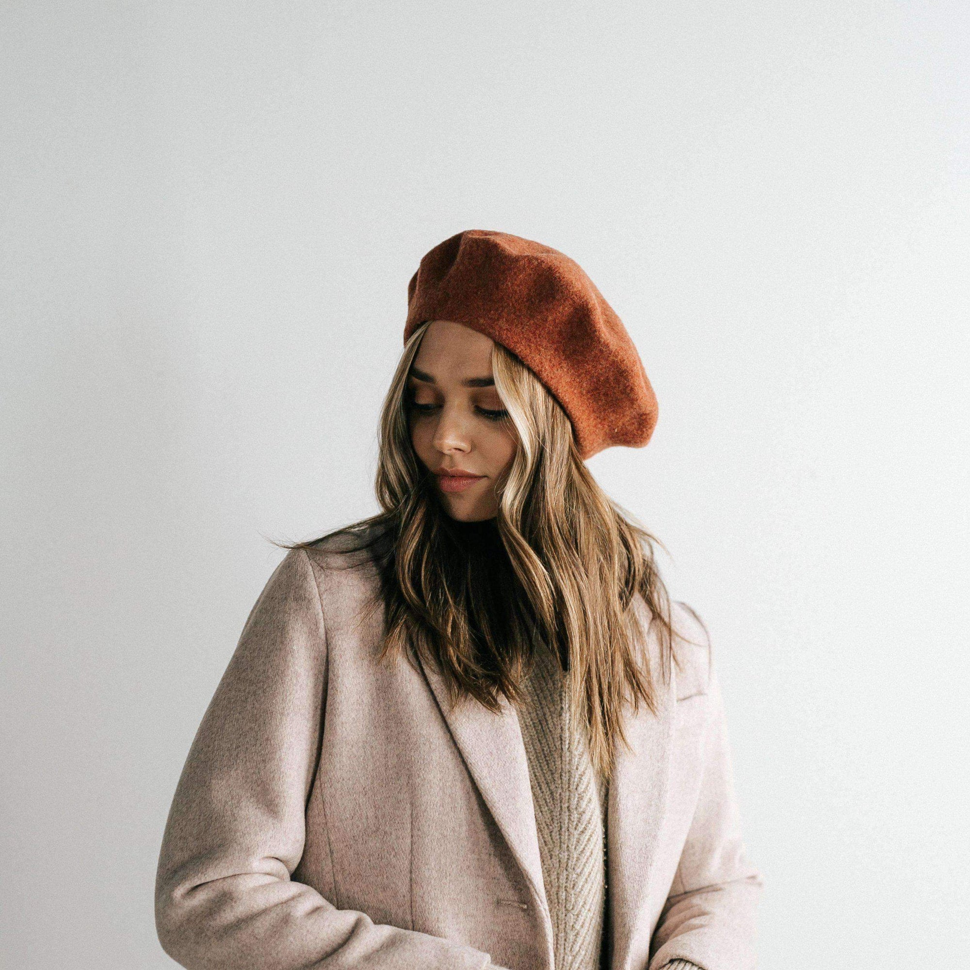 GIGI PIP Hats for Women- Sophie Beret - Rust-Women's Cap