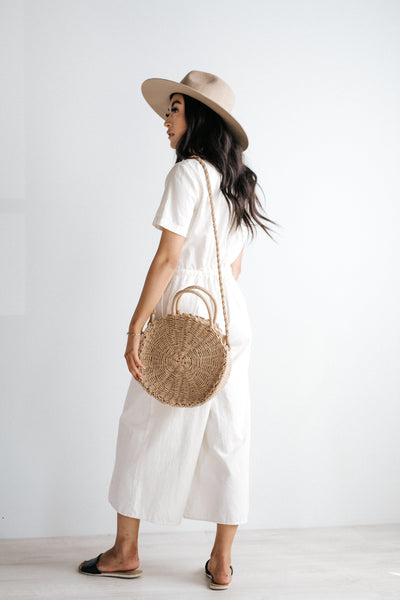 GIGI PIP Hats for Women- Straw Circle Crossbody Bag-Bag
