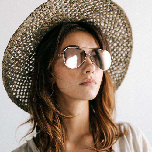 GIGI PIP Hats for Women- Toni - Rose Gold Aviator Sunglasses-Sunglasses