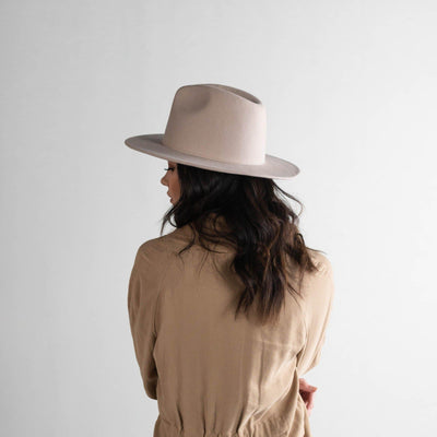 GIGI PIP Hats for Women- Wes Fedora - Ivory-Felt Hats