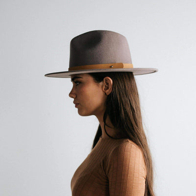 GIGI PIP Hats for Women- Wes Fedora - Light Grey-Felt Hats