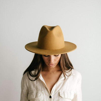 GIGI PIP Hats for Women- Wes Fedora - Mustard-Felt Hats