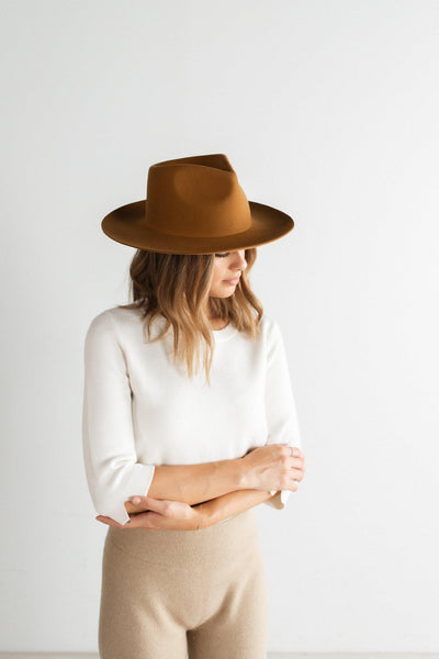 GIGI PIP Hats for Women- Zephyr Rancher - Cinnamon-Felt Hats