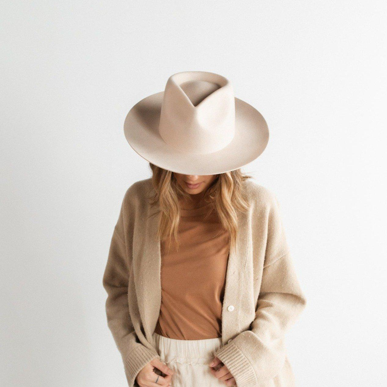 GIGI PIP Hats for Women- Zephyr Rancher - Cream-Felt Hats
