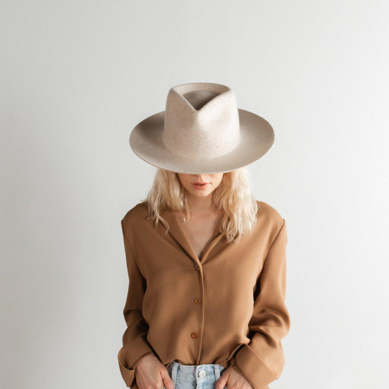 GIGI PIP Hats for Women- Zephyr Rancher - Mix Ivory-Felt Hats