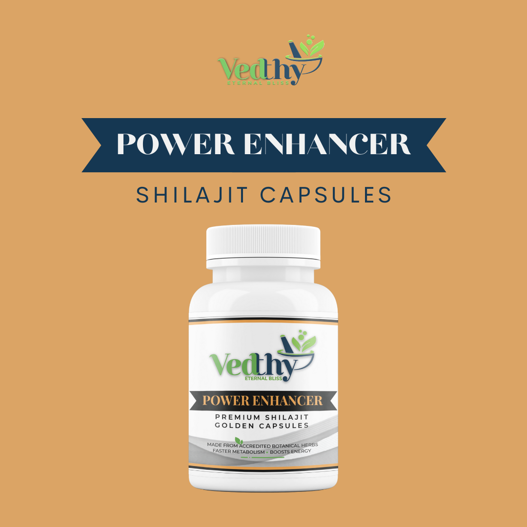 Premium Shilajit Golden Capsules - Power Enhancer