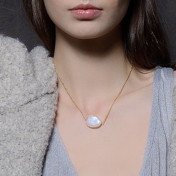 Indian Summer Moonstone Necklace