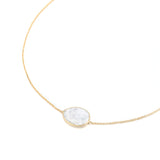 Indian Summer White Crystal Necklace
