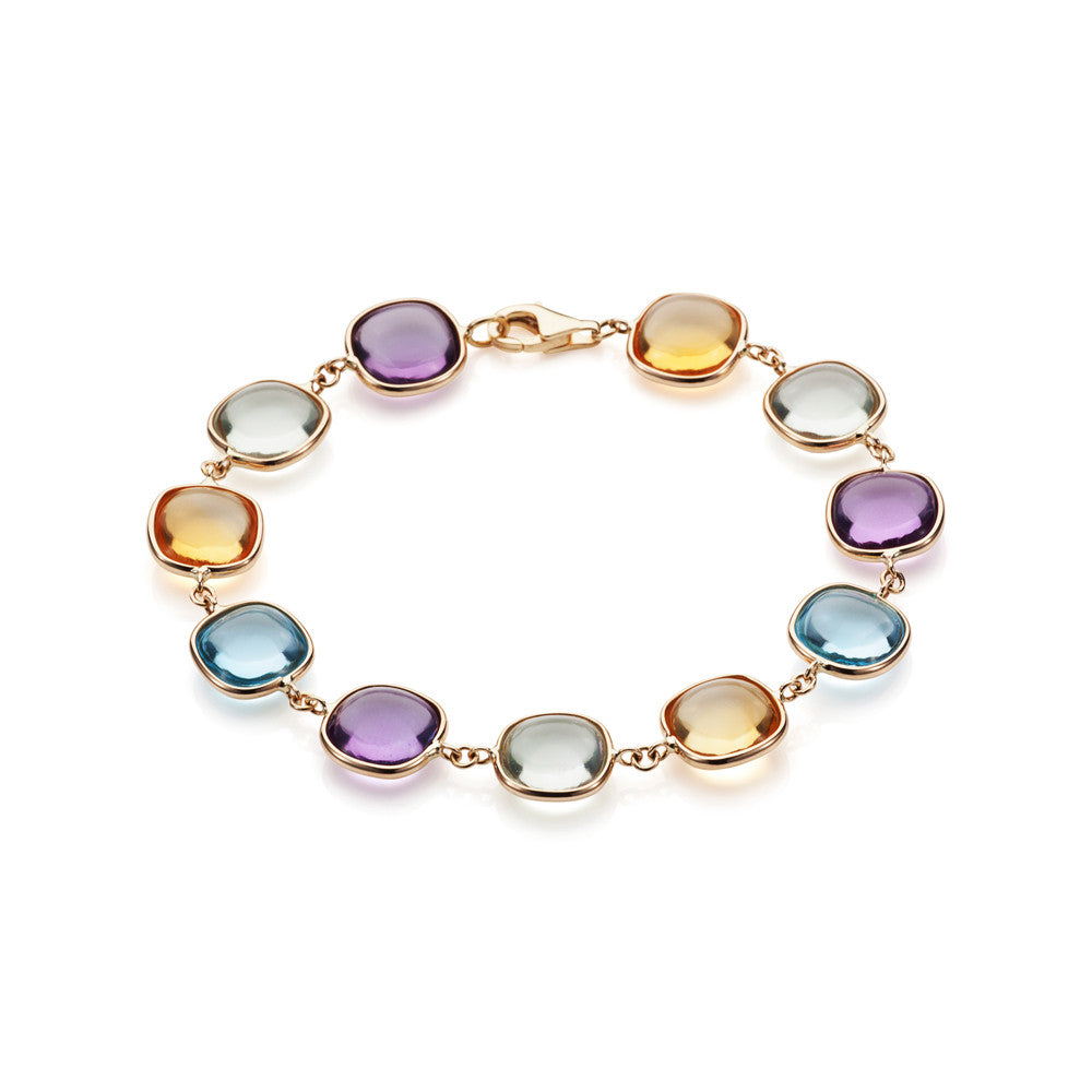 plated avey gold rose bracelet karat multi alt products designs gemstone