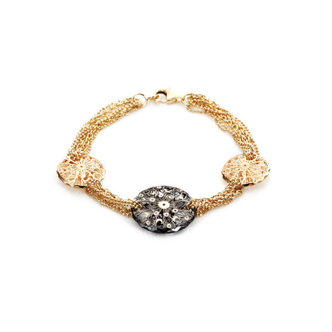 Honeyed Luxury Filigree Bracelet