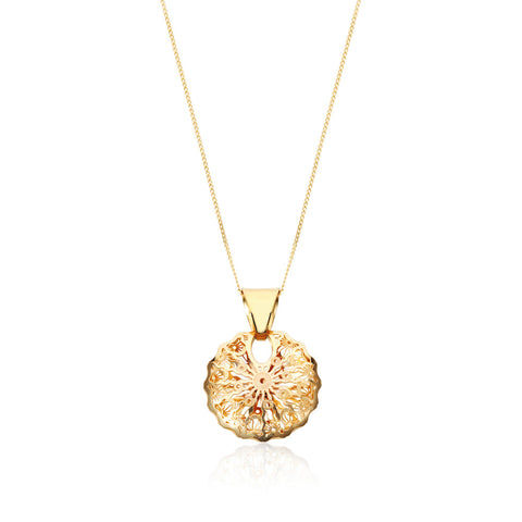 Honeyed Luxury Filigree Pendant