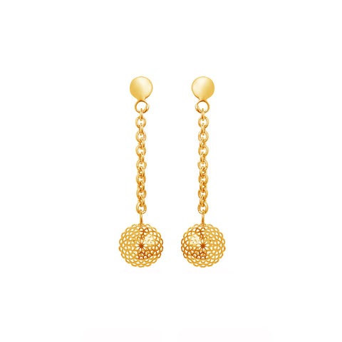 Honeyed Luxury Filigree Drop Earrings