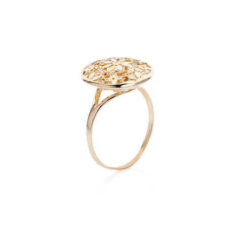Honeyed Luxury Filigree Ring