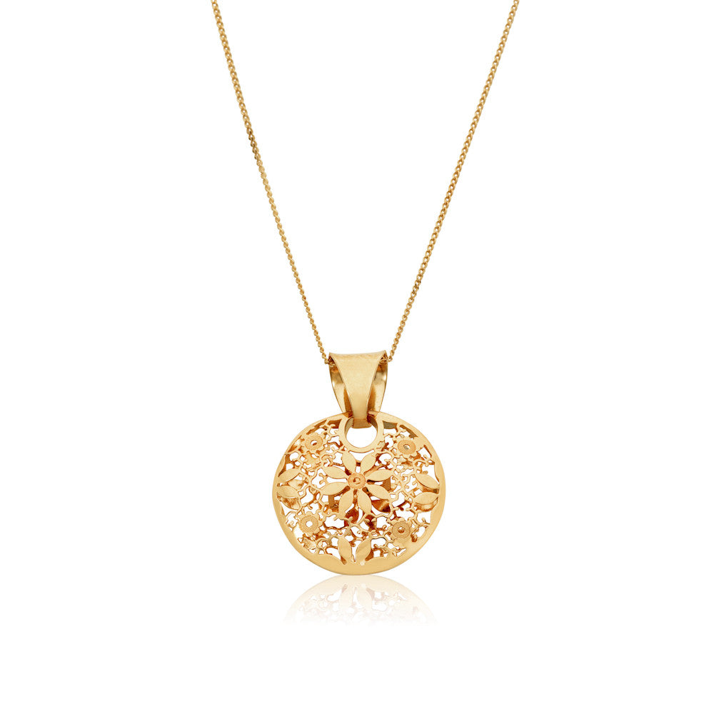 Honeyed Luxury Floral Filigree Pendant