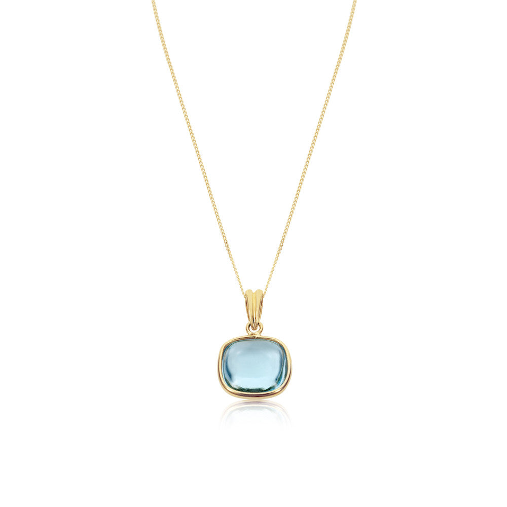 Mellow Sunshine Blue Topaz Pendant