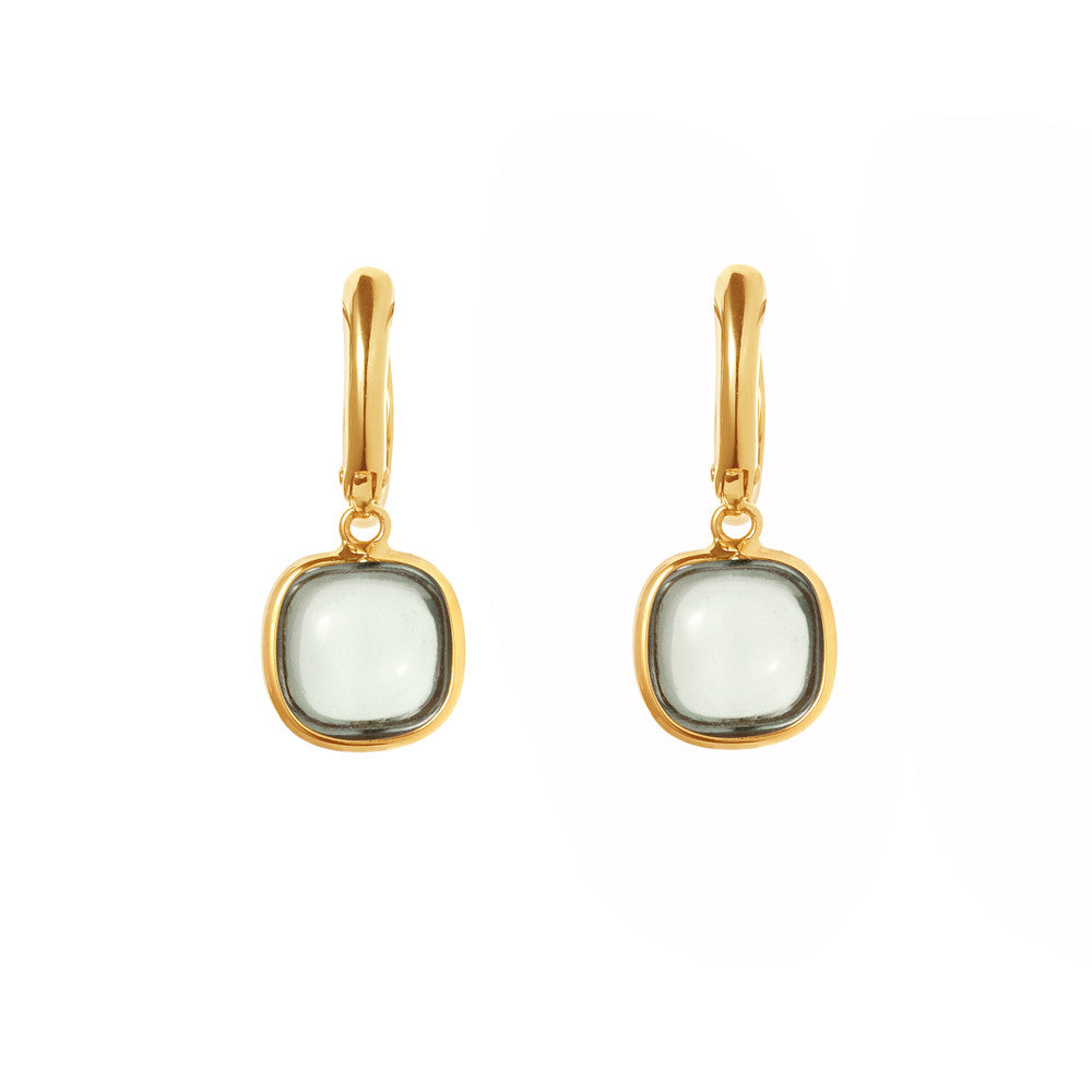 Mellow Sunshine Prasiolite Earrings
