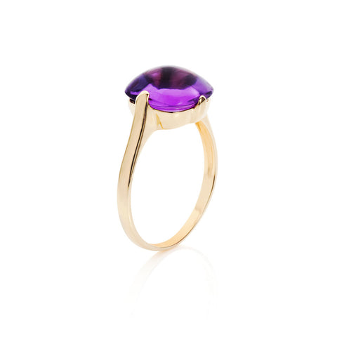 Mellow Sunshine Amethyst Ring