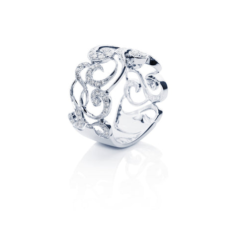 Will-O'-The-Wisp Diamond Swirl Ring