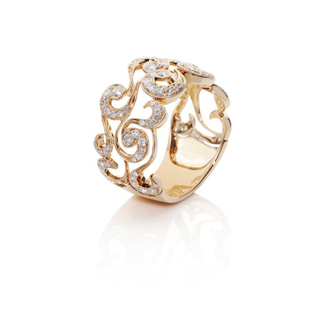 Will-O'-The-Wisp Diamond Paisley Ring
