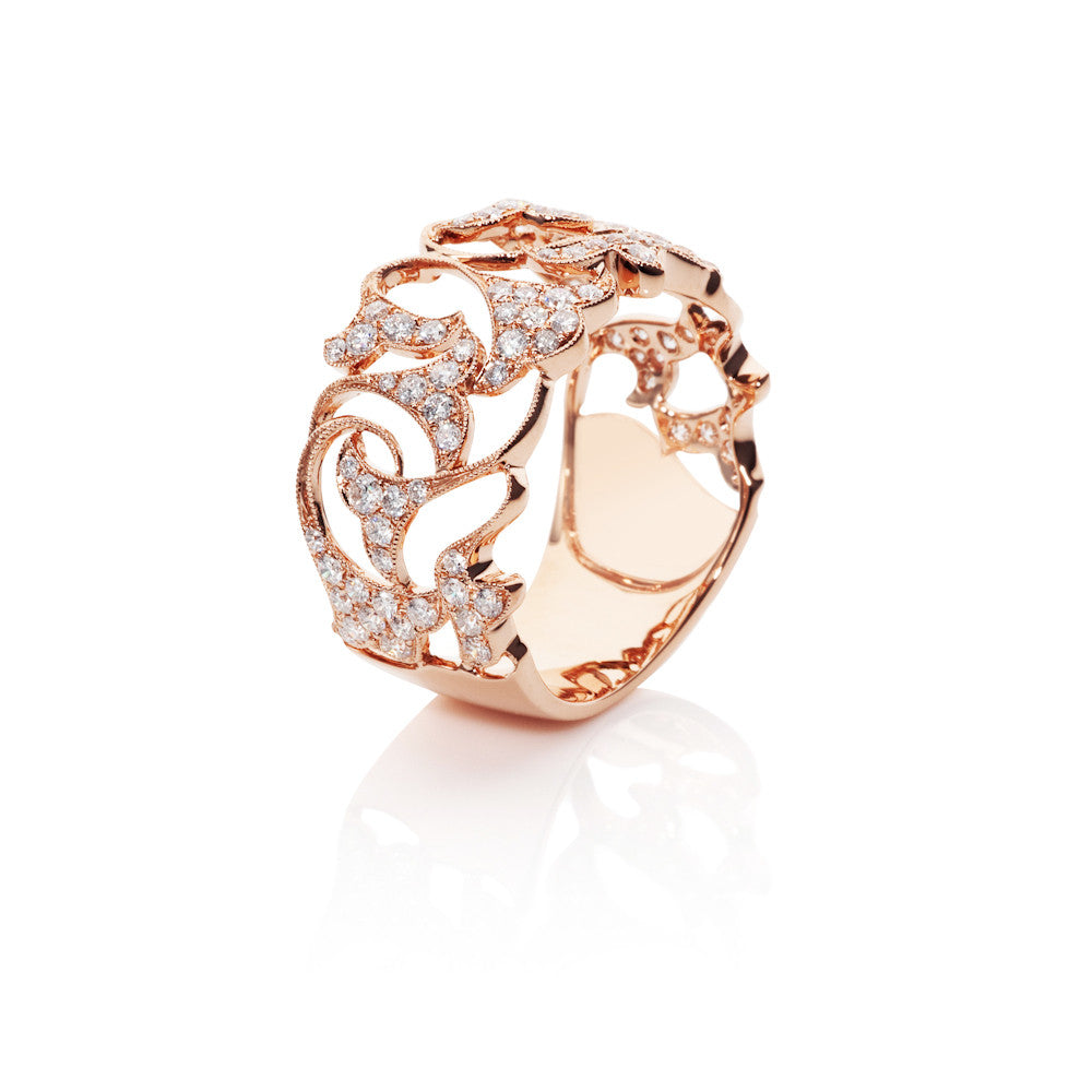 Will-O'-The-Wisp Diamond Floral Ring