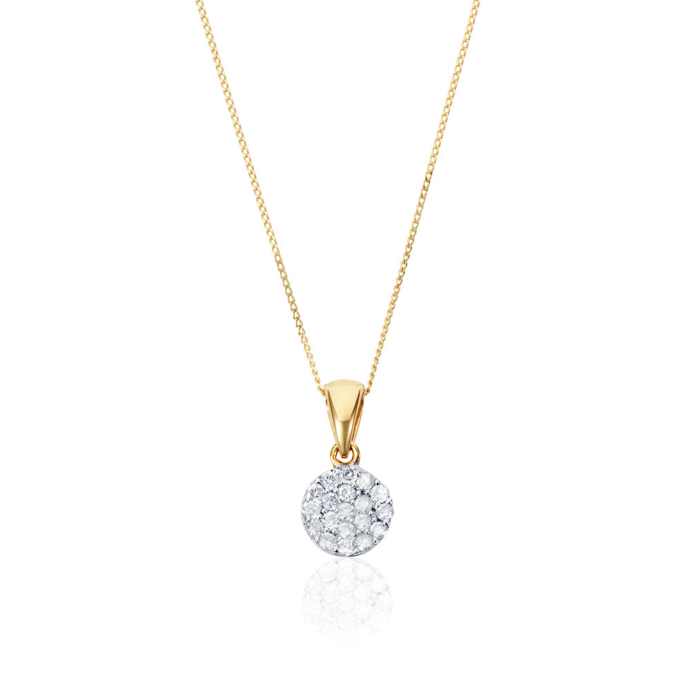 Enchanted Moment Diamond Petite Round Pendant