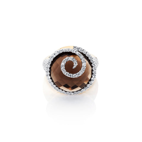 Under The Stars Smokey Quartz & Diamond Ring