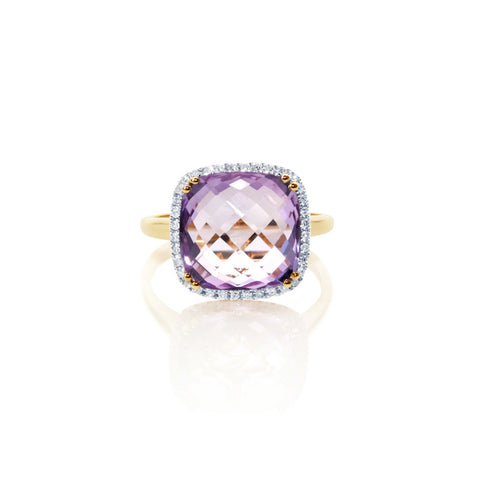 Summer Dusk Amethyst & Diamond Ring