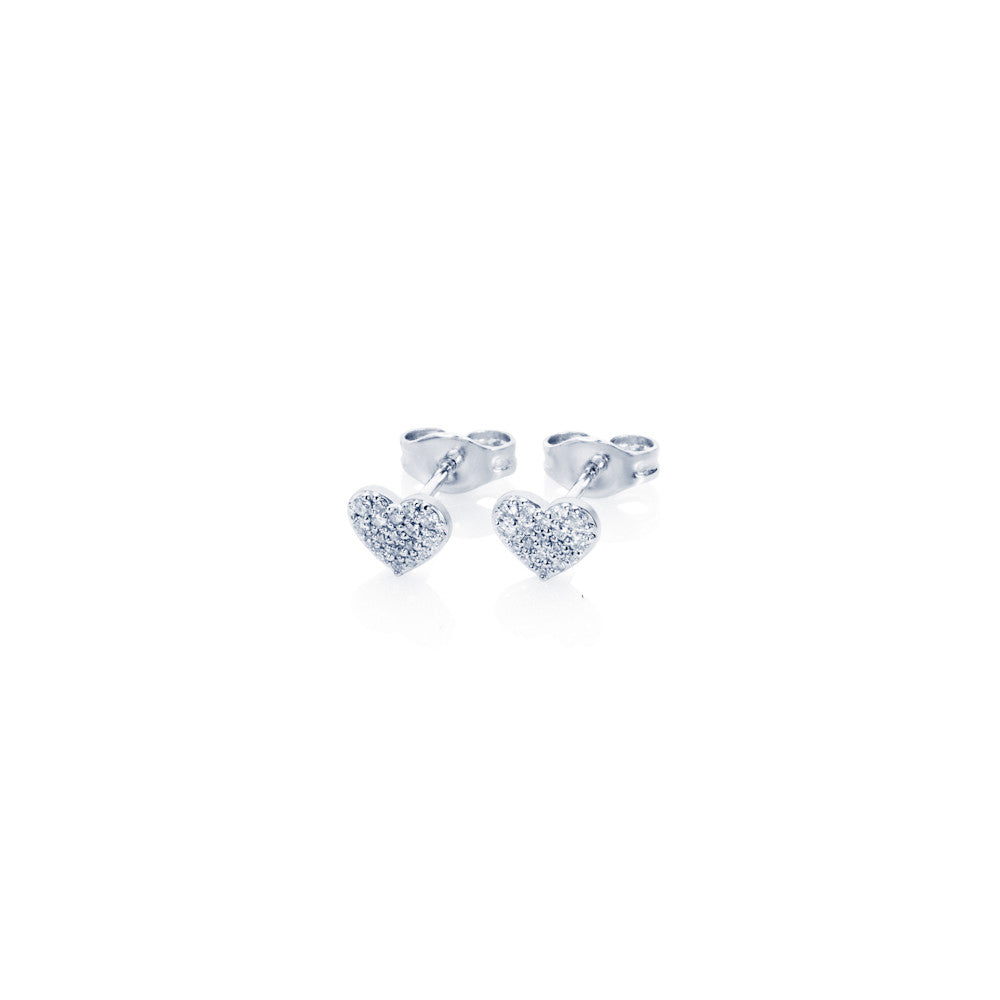 Enchanted Moment Diamond Heart Stud Earrings