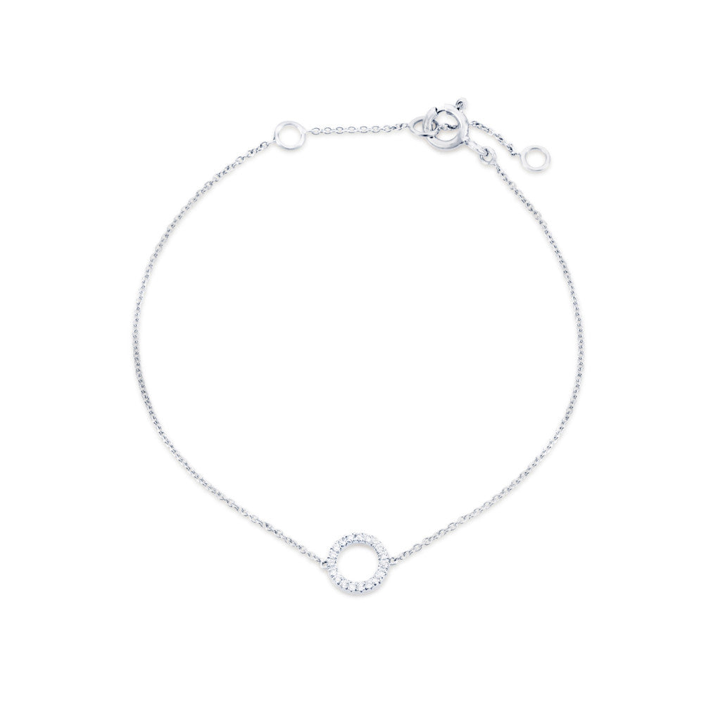 Enchanted Moment Diamond Hollow Circle Bracelet