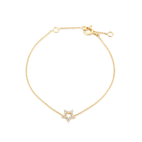 Enchanted Moment Diamond Hollow Star Bracelet