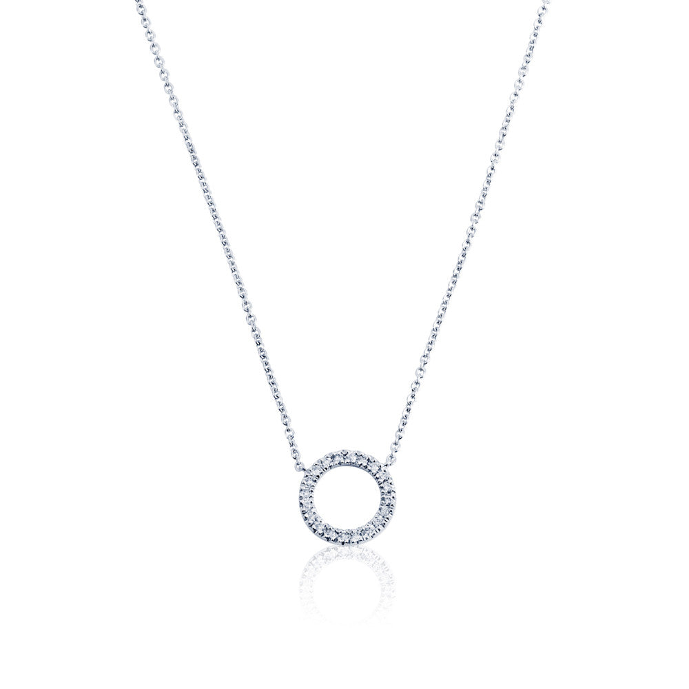 Enchanted Moment Diamond Hollow Circle Necklace
