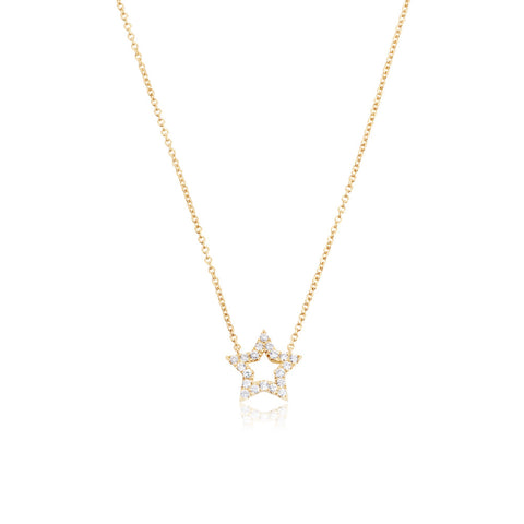 Enchanted Moment Diamond Hollow Star Necklace