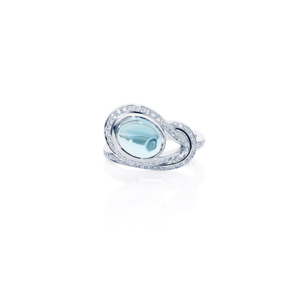 Firefly Evenings Swiss Topaz & Diamond Ring