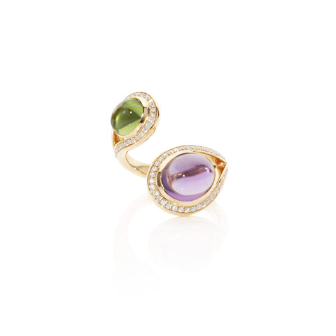 Firefly Evenings Oval Multi Gem & Diamond Ring