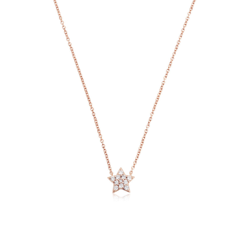 Enchanted Moment Diamond Star Necklace