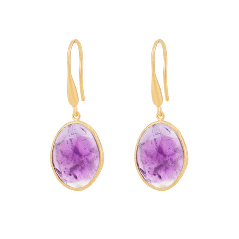 Indian Summer Amethyst Drop Earrings