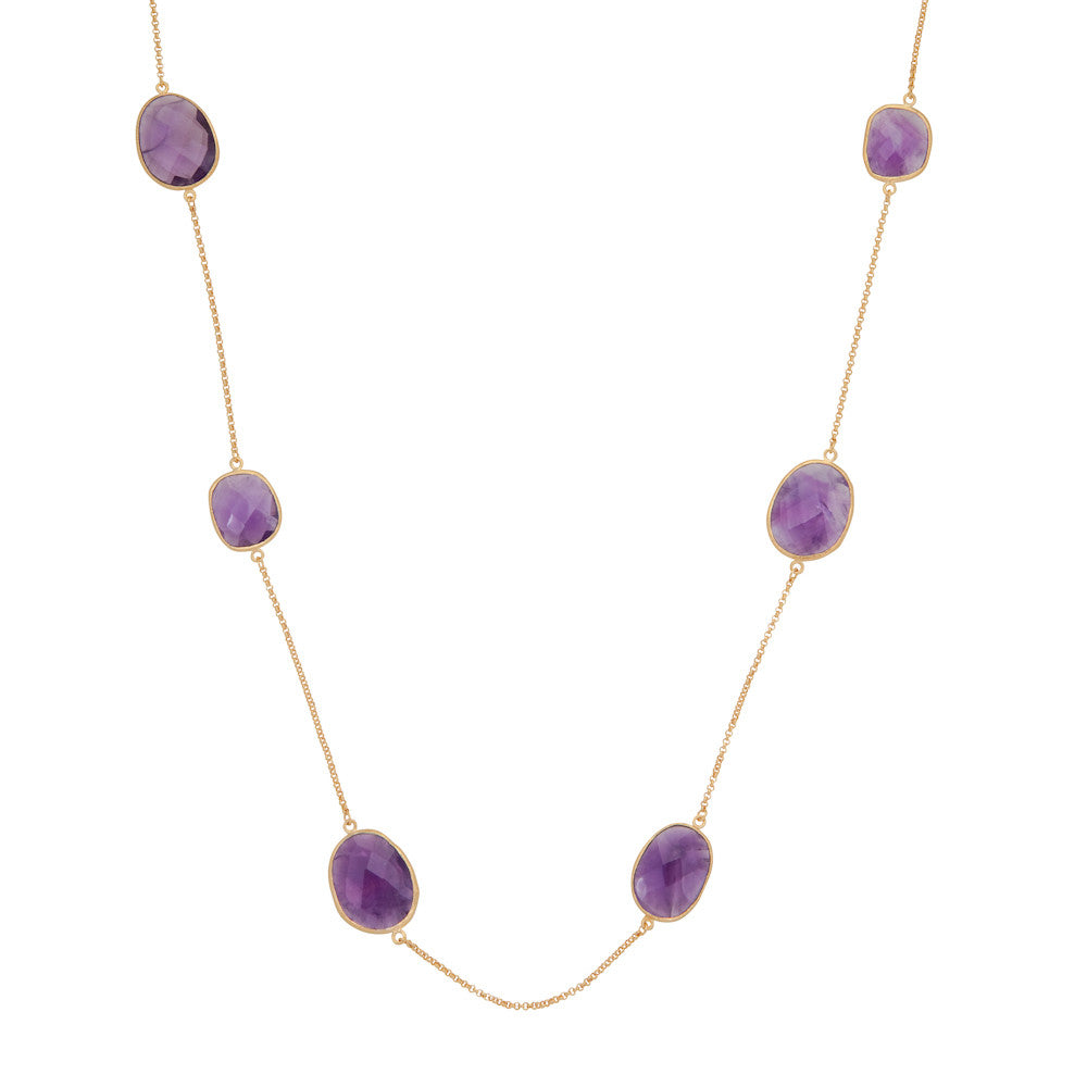 Indian Summer Amethyst Multi Stone Necklace