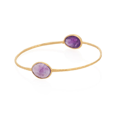 Indian Summer Double Oval Amethyst Bangle