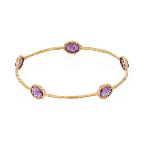 Indian Summer Amethyst Multi Stone Bangle
