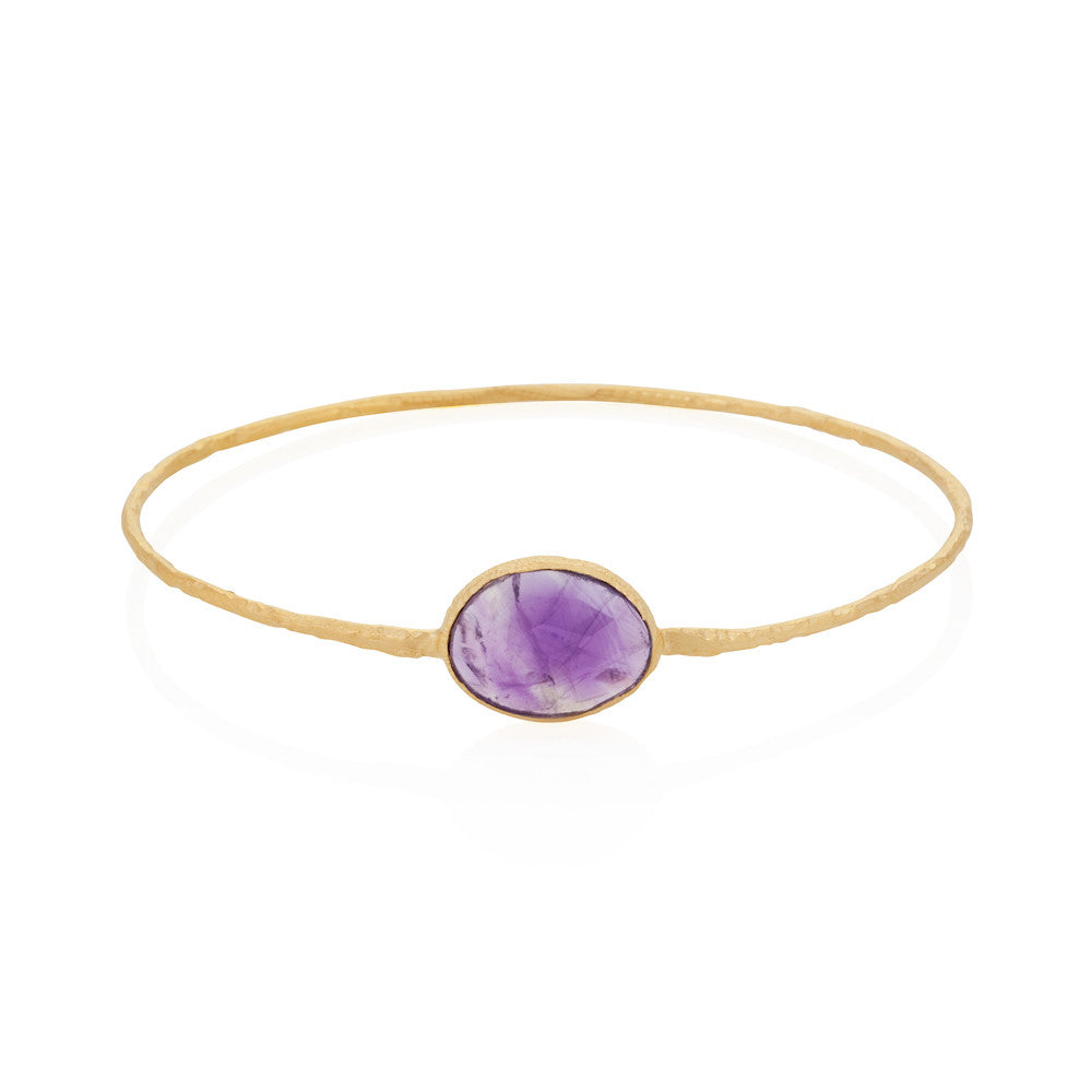 Indian Summer Amethyst Bangle