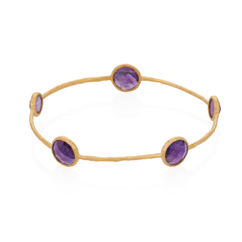Indian Summer Amethyst Gemstone Bangle