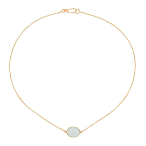 Indian Summer Aqua Chalcedony Necklace