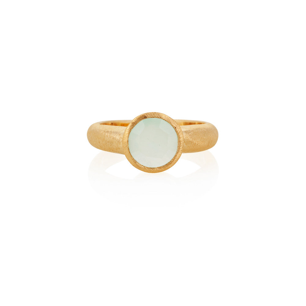 Indian Summer Aqua Chalcedony Ring