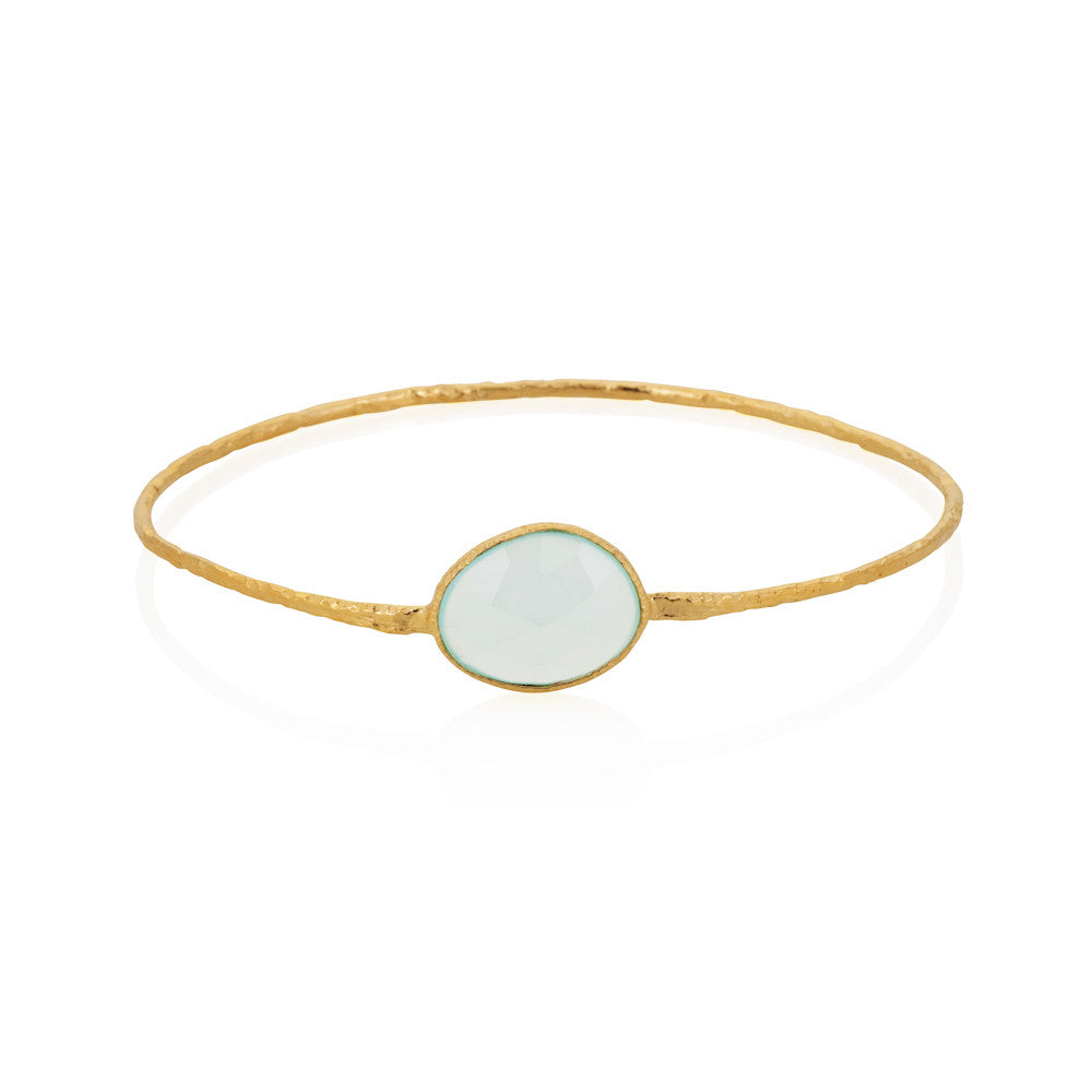 Indian Summer Aqua Chalcedony Bangle