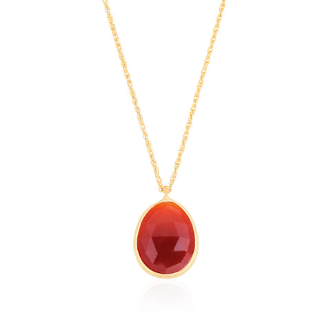 Indian Summer Red Agate Pendant