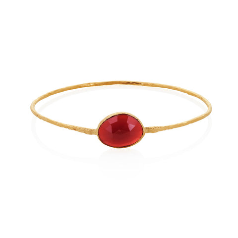 Indian Summer Red Agate Bangle