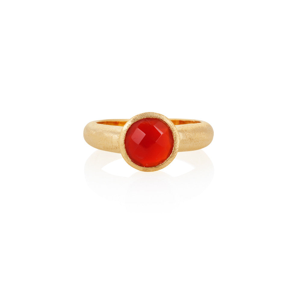 Indian Summer Red Agate Ring